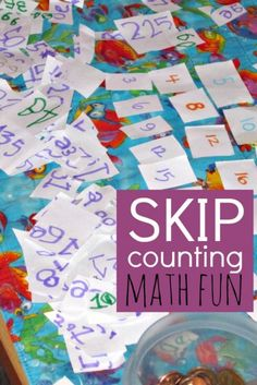 Math can be fun with a little free play exploration of numbers.