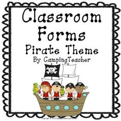 Classroom Forms and Documents - Pirate Theme