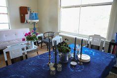 dip dye chairs - Chris & Kristen's Artists' Retreat