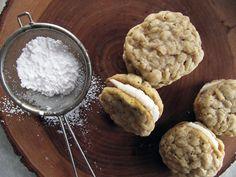 Lemony Oatmeal Sandwich Cookies // take a megabite