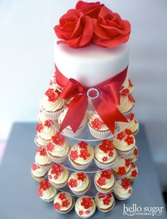 pretty cupcake tower