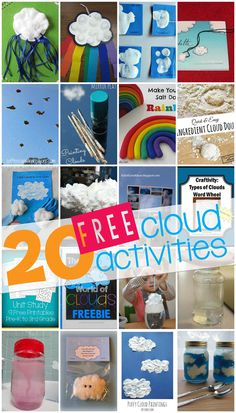 Awesome Round Up of 20 Cloud & Weather related activities and experiments   VanillaJoy.com #homeschool #kidsactivities