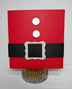 Quick and Easy DIY Gift Card Holder!  You'll find directions to make this super easy gift card holder on my blog!  www.stampingeorgia.com