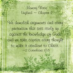 Memory verse for Chapter 2 of Online Bible Study of Unglued