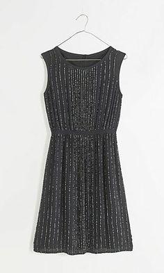 sequin line dress