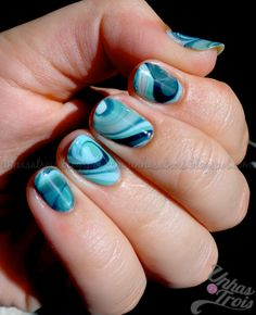 Teal and turquoise dry marble