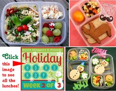 LOTS of Holiday lunch inspiration!