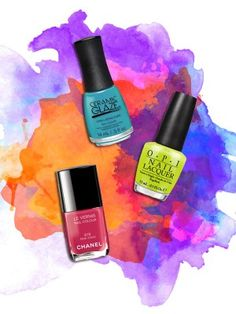 7 Nail Colours that Will Make You Forget it is Almost Fall - Brighten up your polish wardrobe with these 7 zesty hues