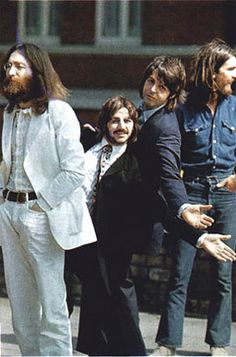 """I'd like to """"imitate"""" this walk across Abbey Road someday... The Beatles' Abbey Road - photo shoot outtakes"""