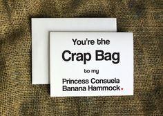 Princess Consuela Banana Hammock and Crap by LissaLooStationery