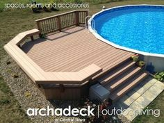 above ground pool deck - no bench