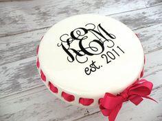 Monogrammed Cake Plate