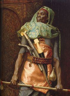 Palace Guard detail 1902 by  Ludwig Deutsch. - Enzie Shahmiri, via Flickr