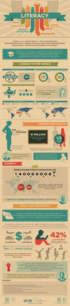 Literacy in the World Infographic
