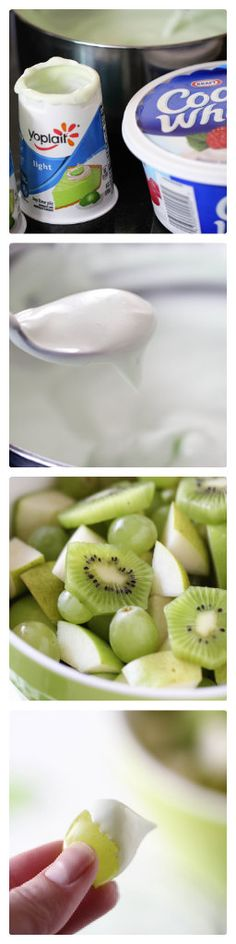 Key lime yogurt fruit dip ( a 60 second fruit dip) ...super easy and delicious!