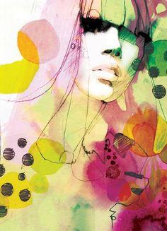 Ekaterina Koroleva. No se que hay en las pinturas con acuarela pero me encanta la textura final