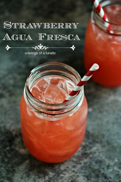 Strawberry Agua Fresca by Cravings of a Lunatic | Simple to make, this strawberry agua fresca is the perfect thirst quencher on a hot summer...