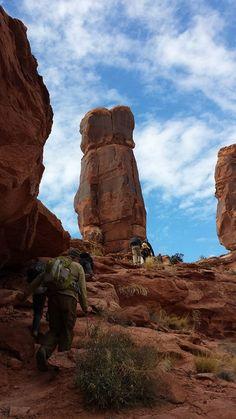 Hiking in the Utah b