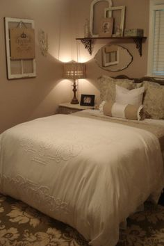 Like the frames wall decor, French country elements Loose the terrible grandma pillows