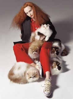 Vogue US August 2008, Karen Elson by Steven Meisel.