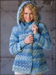 Denim Marble Hooded Jacket