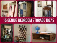 bedroom storage, living rooms, design homes, 15 genius, organ, storag idea, diy idea, bedrooms, storage ideas