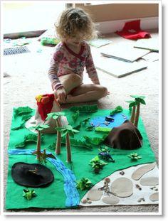 Citro ♥ http://felting.craftgossip.com/2013/04/05/felt-dinosaur-play-mat-and-a-giant-felt-board-tutorial/