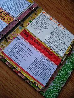 Cookbook in a binder