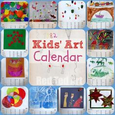 Kids Art Calendar - I made this one in the 80s for my mother and she still has it!