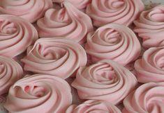 Pink meringue roses