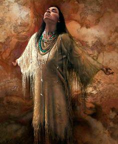 Cherokee woman praying