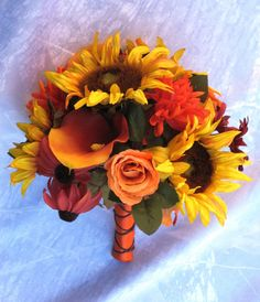 Sunflower Bridal Bouquets Sunflower Wedding by BridalBouquets