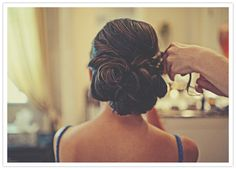 curled wedding up-do
