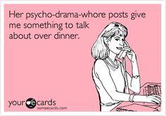 Facebook drama.