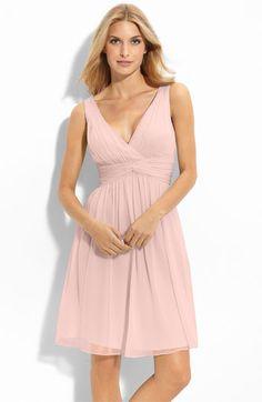 """Donna Morgan Silk Chiffon Dress """"Blush"""""""
