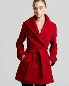 Wrap Coat - love the red!