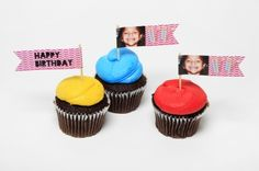 Give your cupcakes a tasteful twist with handmade cupcake flags.