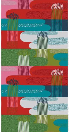 The wheat and ponds can look threatening like missiles and effluent gases... Sanna Annukka for Marimekko 2013