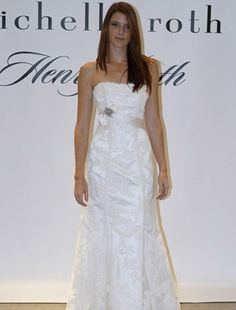 Henry Roth - Strapless A-Line Gown in Lace