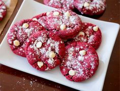 This Red Velvet White Chocolate Chip Cookies Recipe is heavenly!