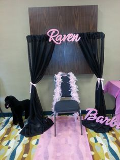 Photo booth at a Barbie girl birthday party!  See more party ideas at CatchMyParty.com!