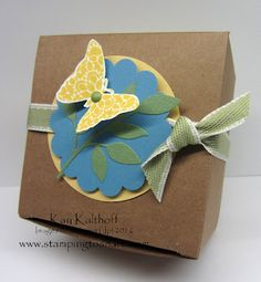 Stampin' Up / Kraft Box / Butterfly Punch