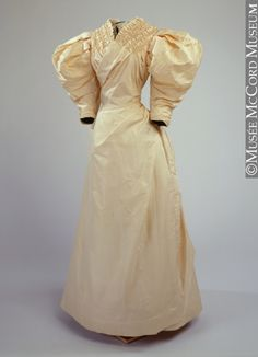 Wedding dress, early 1890's, McCord Museum