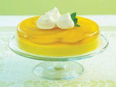 Postre de limón y mango fresco