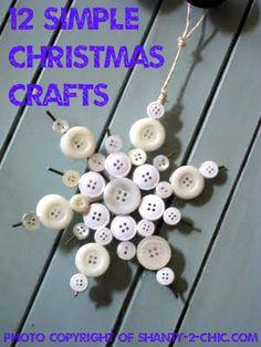 12 Simple Christmas Crafts Find more #christmas ideas at https://www.facebook.com/WestTremontHolidayMarket
