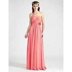Sheath/ Column Sweetheart Floor-length Chiffon Bridesmaid Dress – USD $ 98.99