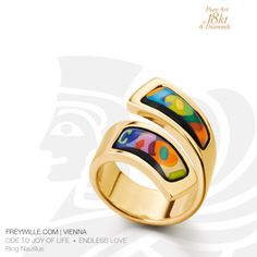 This 18ct Nautilus ring is from our collection ODE TO JOY OF LIFE - ENDLESS LOVE. It symbolizes the everlasting love between two people.