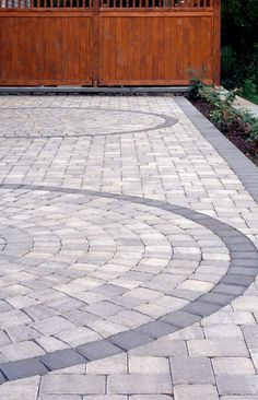 designs in the pavers??