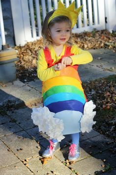DIY Rainbow Costume by The Chirping Moms:
