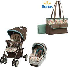 Graco Spree Travel System & Twister w/BONUS Diaper Bag Value Bundle